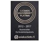 Suomen vahvimmat platina 2017